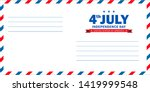 4th of july independence day... | Shutterstock .eps vector #1419999548