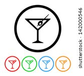 martini glass icon in vector... | Shutterstock .eps vector #142000546