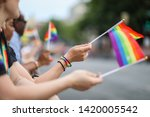 Small photo of Washington, D.C. / USA - June 8, 2019: The Capital Pride Parade takes place every year on a Saturday in June between Dupont Circle and Logan Circle.