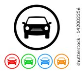 car icon in vector format with... | Shutterstock .eps vector #142002256