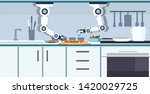 smart handy chef robot... | Shutterstock .eps vector #1420029725