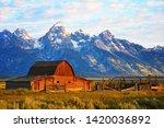 Barn On Mormon Run   Wyoming...