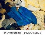 pile of clothes. closedup of...   Shutterstock . vector #1420041878