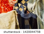 pile of clothes. closedup of...   Shutterstock . vector #1420044758