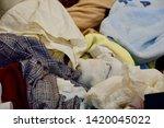 pile of clothes. closedup of...   Shutterstock . vector #1420045022