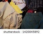 pile of clothes. closedup of...   Shutterstock . vector #1420045892