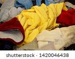 pile of clothes. closedup of...   Shutterstock . vector #1420046438