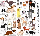 doodle of various cute dogs   Shutterstock .eps vector #1420049228
