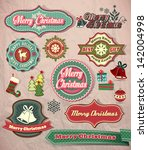 christmas labels  icons... | Shutterstock .eps vector #142004998