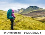 active hiker enjoying the view... | Shutterstock . vector #1420080275