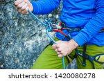 climbing gear and equipment... | Shutterstock . vector #1420080278