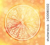 colorful citrus slice vector... | Shutterstock .eps vector #1420080332
