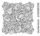 vector sea creatures doodle... | Shutterstock .eps vector #1420080338