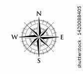 vector compass rose with north  ... | Shutterstock .eps vector #1420088405