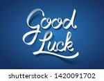 paper art of good luck... | Shutterstock .eps vector #1420091702