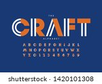 vector of stylized modern font... | Shutterstock .eps vector #1420101308