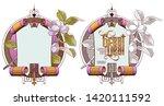 vector plant vignette for... | Shutterstock .eps vector #1420111592