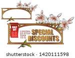 vector plant vignette for... | Shutterstock .eps vector #1420111598