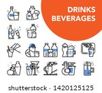drinks and beverages blue... | Shutterstock .eps vector #1420125125