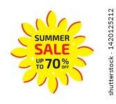 summer sale banner up to 70  ... | Shutterstock .eps vector #1420125212