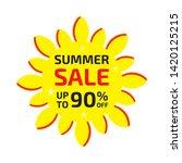 summer sale banner up to 90  ... | Shutterstock .eps vector #1420125215