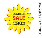 summer sale banner up to 80  ... | Shutterstock .eps vector #1420125218