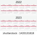 calendar 2020 and 2021 template....   Shutterstock .eps vector #1420131818