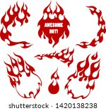 red fire  old school flame...   Shutterstock .eps vector #1420138238