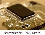 printed circuit board with many ... | Shutterstock . vector #142013905