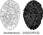 japanese wave and cloud... | Shutterstock .eps vector #1420139132