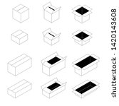 set of boxes in the style of... | Shutterstock .eps vector #1420143608