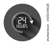 24 hours clock sign icon in... | Shutterstock .eps vector #1420144628