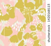 vector organic floral seamless... | Shutterstock .eps vector #1420168115