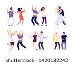 dancing couples. happy persons... | Shutterstock .eps vector #1420182242
