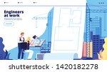 building construction landing.... | Shutterstock .eps vector #1420182278