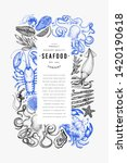 seafood and fish design... | Shutterstock .eps vector #1420190618