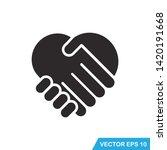 handshake icon vector design... | Shutterstock .eps vector #1420191668