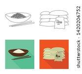 vector illustration of crop and ... | Shutterstock .eps vector #1420206752