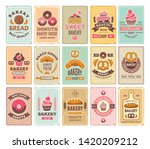 vintage bakery cards. delicious ... | Shutterstock .eps vector #1420209212