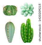 cactuses plants. decorative... | Shutterstock .eps vector #1420209215
