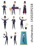 magician. male performer... | Shutterstock .eps vector #1420209218