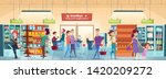 shopping people. characters in... | Shutterstock .eps vector #1420209272
