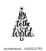 joy to the world inspirational... | Shutterstock .eps vector #1420211792