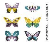 illustration of cute vector... | Shutterstock .eps vector #1420215875