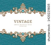 vintage jewelry frame with... | Shutterstock .eps vector #1420225835
