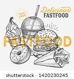 fast food illustrations  burger ...   Shutterstock .eps vector #1420230245