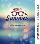 Summer poster. Vector  | Shutterstock vector #142023166