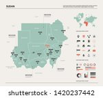 vector map of sudan. country... | Shutterstock .eps vector #1420237442