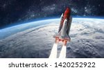 Space Shuttle Launch In The...
