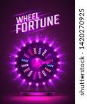 casino neon colorful fortune... | Shutterstock .eps vector #1420270925
